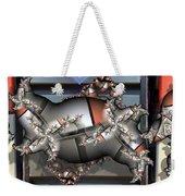 Mandelbrot Meets Mondrian Weekender Tote Bag by Ron Bissett