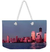 Manhattan In Pink Weekender Tote Bag