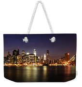 Manhattan Panorama Weekender Tote Bag
