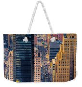 Manhattan Streets From Above Weekender Tote Bag