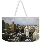 Manhattan View On A Winter Day Weekender Tote Bag