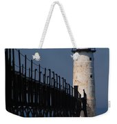 Manistee Harbor Lighthouse And Cat Walk Weekender Tote Bag