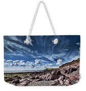 Manorbier Rocks Big Sky Weekender Tote Bag