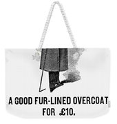 Mans Overcoat, 1888 Weekender Tote Bag