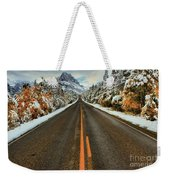 Many Glacier Road Weekender Tote Bag