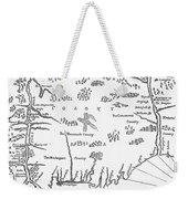 Map: Connecticut, 1661 Weekender Tote Bag