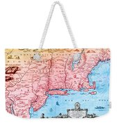 Map Of New Netherland, 1650s Weekender Tote Bag