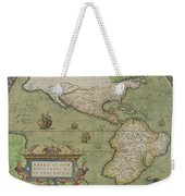 Map Of North And South America Weekender Tote Bag
