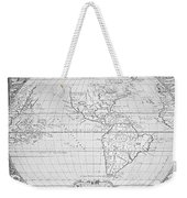 Map Of The New World 1587 Weekender Tote Bag