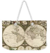 Map Of The World, 1660 Weekender Tote Bag