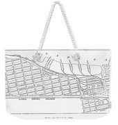Map: Pullman, C1885 Weekender Tote Bag