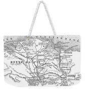 Map: Suez Canal, 1869 Weekender Tote Bag