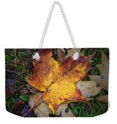 Maple Leaf In Fall Weekender Tote Bag