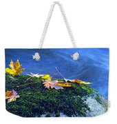 Maple Leaves On Mossy Rock Weekender Tote Bag
