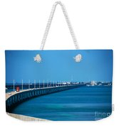 Marathon And The 7mile Bridge In The Florida Keys Weekender Tote Bag