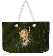 Marbled Orb Weaver Spider Eating Weekender Tote Bag