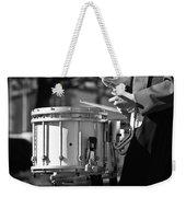 Marching Band Drummer Boy Bw Weekender Tote Bag