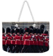 Marching In Red And Black Weekender Tote Bag