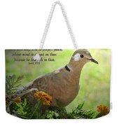 Marigold Dove With Verse Weekender Tote Bag