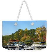 Marina In Fall Weekender Tote Bag