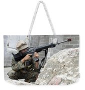 Marine Scans The Area For Enemy Weekender Tote Bag