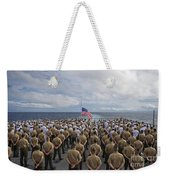 Marines And Sailors Stand In Formation Weekender Tote Bag