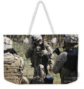 Marines Communicate With Other Elements Weekender Tote Bag