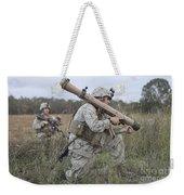 Marines Conduct A Simulated Attack Weekender Tote Bag by Stocktrek Images