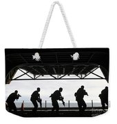 Marines Conduct Rifle Movement Drills Weekender Tote Bag