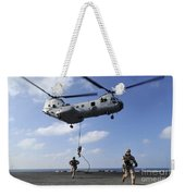 Marines Fast Rope From A Ch-46e Sea Weekender Tote Bag