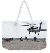 Marines Fast-rope Onto Their Objective Weekender Tote Bag