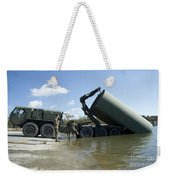 Marines Lower An Improved Ribbon Bridge Weekender Tote Bag