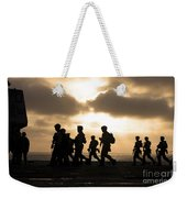 Marines Move To A Firing Line Weekender Tote Bag