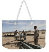Marines Place An Rq-7 Shadow Unmanned Weekender Tote Bag