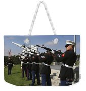 Marines Practices Drill Movements Weekender Tote Bag