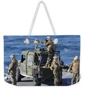 Marines Provide Security Aboard Weekender Tote Bag