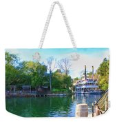 Mark Twain Riverboat At Disneyland Weekender Tote Bag