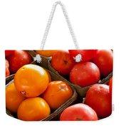 Market Tomatoes Weekender Tote Bag by Lauri Novak