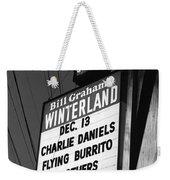 Marquee At Winterland In Late 1975 Weekender Tote Bag