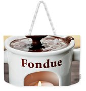 Marshmallow Dipped In Chocolate Fondue Weekender Tote Bag
