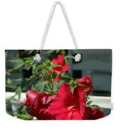 Martha's Vineyard Red Hibiscus And Porch Weekender Tote Bag