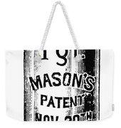 Mason Jar Weekender Tote Bag