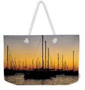 Masts At Sunset Weekender Tote Bag