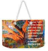 Matthew 5 Weekender Tote Bag