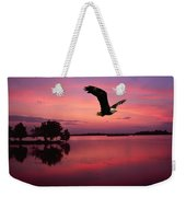 Mauve Sundown Eagle  Weekender Tote Bag