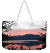 May Sunset On Kootenay Lake Weekender Tote Bag