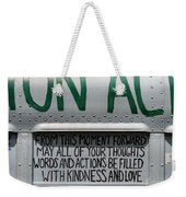 May Your Thoughts Weekender Tote Bag