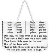 Mcguffeys Primer, C1840 Weekender Tote Bag
