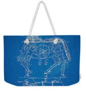 Mechanical Horse Toy Patent Artwork 1893 Weekender Tote Bag by Nikki Marie Smith
