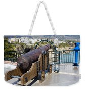 Medieval Cannon At The Balcon De Europa Weekender Tote Bag